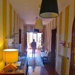 The corridor overlooking living room