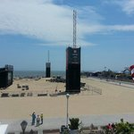 Overlooking the boardwalk and ocean the week before the Dew tour from the upper porch.