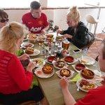 Family Feast in the Sun