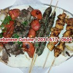 Mixed Grilled Kababs with Grilled Vegetables