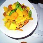 Mango Hühnchen mit grünem Curry