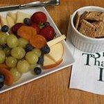 Perhaps a fruit & cheese plate to welcome you?