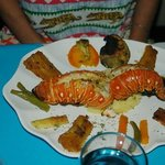 Lobster, shrimp and fish combination