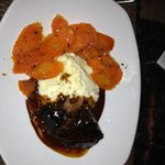 Braised short ribs with carrots and grits
