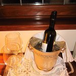 """A """"proper"""" ice bucket and glasses for our wine"""