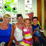Families love our window seat, but watch your ice cream, Mo'o is sneaky!