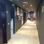 Corridoio per la sala colazione buffet