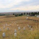 Hauptfriedhof im Hintergrund