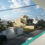 view from balcony hallway neighborhood
