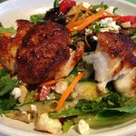 Pelican Salad with Blackened Grouper
