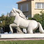 Fontana con cavallo bianco