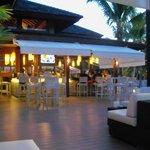 Outside bar and restaurant