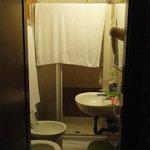 Banheiro apertado.