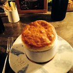 corn and green chili souffle from Rise