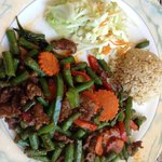 Spicy beef and green beans