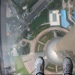 view from the Pearl tower glass floor