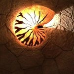 A NAUTILUS SHAPED LAMP, JUST A BEAUTIFUL DETAIL!