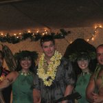our guest TJ with some members of the Hula troupe.