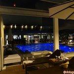 Área da piscina na cobertura