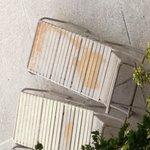 Rusty damaged sun loungers