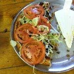 The Fiesta Pizza -- half eaten!