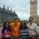 Our wonderful guide, Parris, introduces us to Big Ben !