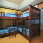 Mixed Dorm room with air-condition can fit for 4 people, having privacy locker and free wi fi.