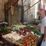 with Vincenzo at the market