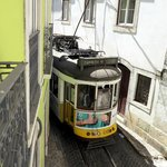 The 28 tram rolling past our first floor window