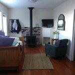 Living area, door at left