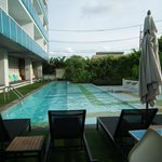 La piscine avec 3 niveaux d'eau