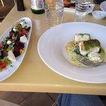 Great fish and beet salad