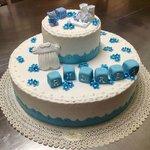Torta per battesimo bimbo