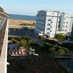 Der Blick von der Junior Suite 405 Richtung Strand
