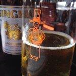 Enjoying a beer at Pum