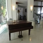 Piano in the hotel lobby