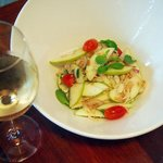 Thai Style Apple Salad with crab meat, dried shrimp,  cherry tomato and mint