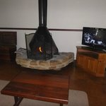 The log cabin fire and TV