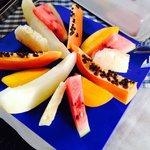 Fresh fruits for breakfast.
