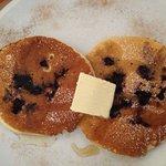 Outstanding blueberry pancakes for breakfast!