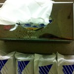 Rusting metal Kleenex case