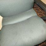 Soiled desk chair