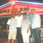 With the 'Bros' at The Apple bar