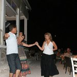 Dancing on the beach at Faros