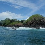 Vista desde la lancha camino a Isla Bolaños