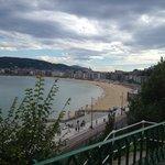 San Sebastians strandpromenade