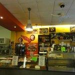 Order counter & pizza prep area