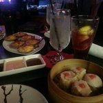 seafood shu mai and baked scallops with blue crab (my favorites)