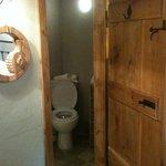 Small bathroom, wih power shower