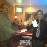 Dada(Mr Eugene) during lucky draw for Botanic Rest, Our next Door Lodge